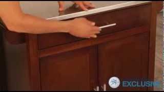 Espresso Mid Size Kitchen Island With Stainless Steel Top - Product Review Video