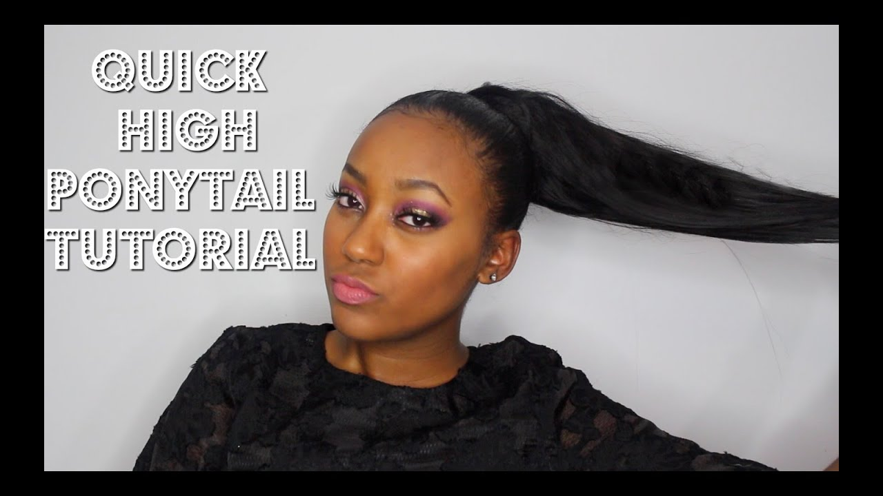 Hair Style Videos Youtube: High Faux Ponytail Tutorial (Beginner Friendly)