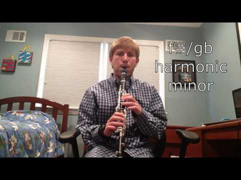 All Harmonic Minor Scales on Bb Clarinet and Arpeggios