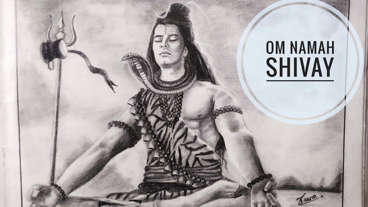 Lord shiva drawing mahadev painting god shiva pawan nath art