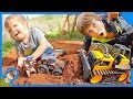 Construction Trucks For Children Moving Dirt!