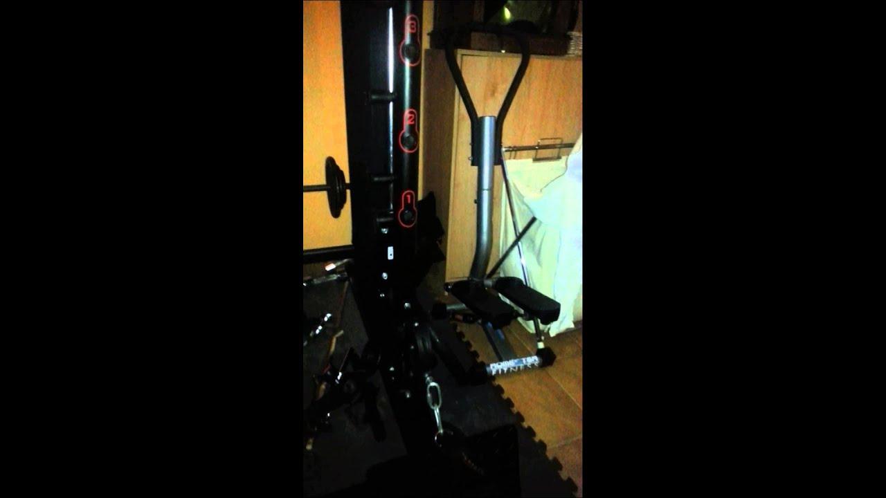 maquina musculacion domyos decatlhon para hacer pesas en el gimnasio casero youtube. Black Bedroom Furniture Sets. Home Design Ideas