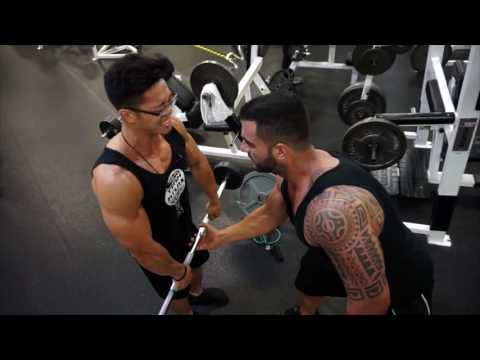Athlete Rechie Wong Upper body and Posing with Coach James Ayotte | Team Atlas | Monster Gym