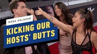Alita: Battle Angel's Rosa Salazar Kicks our Hosts' Butt