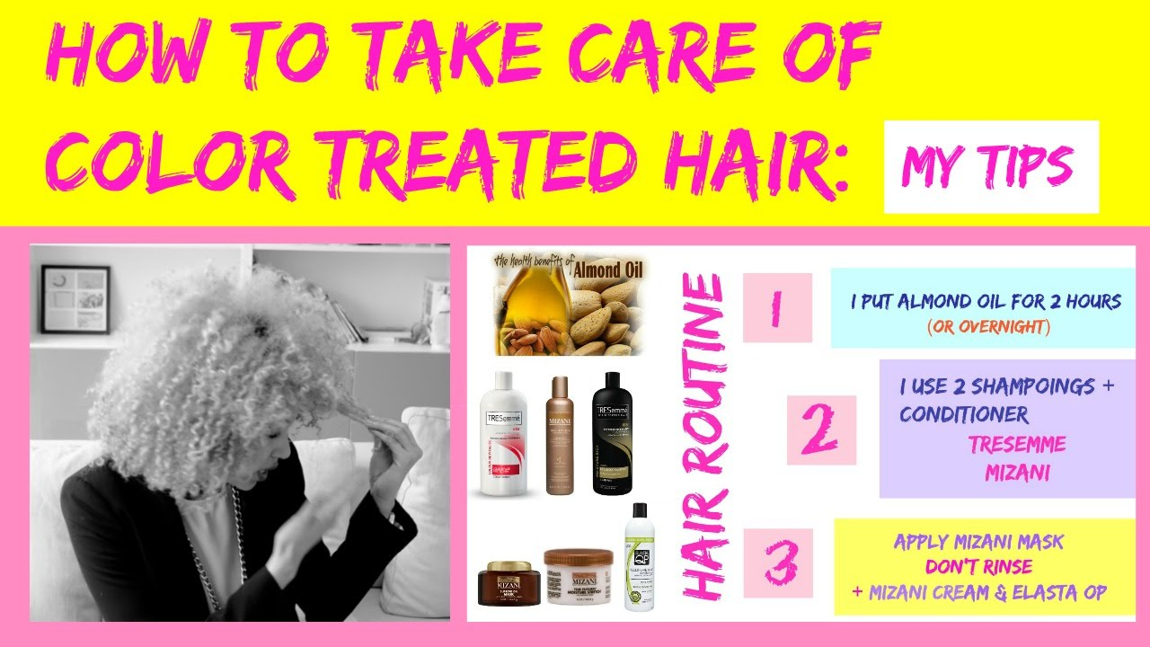 How To Take Care Of Color Traited Hair Mizani Tresemme Adore