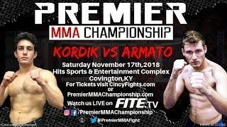 Premier MMA Championship 10 Jacob Kordik vs Tony Armato
