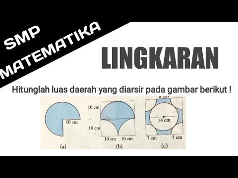 Lingkaran Hitunglah Luas Daerah Yang Diarsir Pada Gambar Berikut Youtube