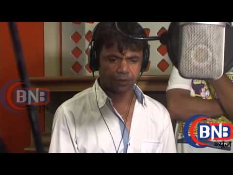 Bollywood Comedy Actor Rajpal Yadav during the song Recording Film Kutumb
