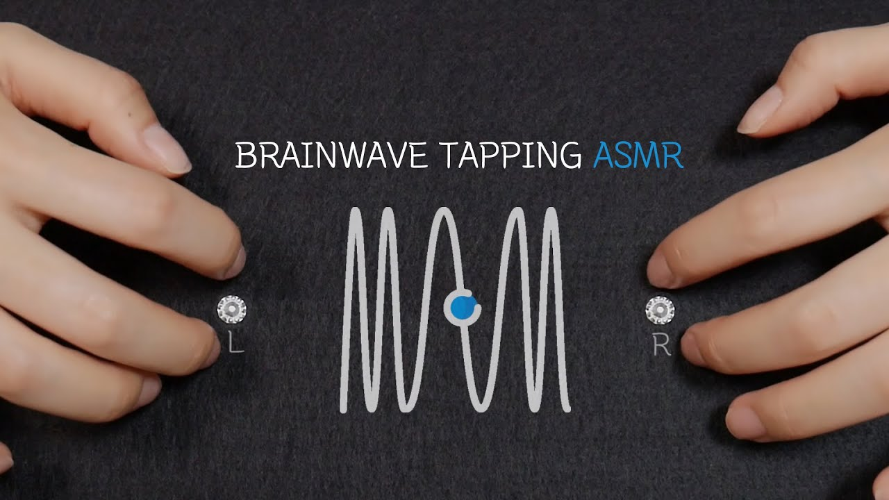 [ASMR] 뇌파탭핑 Tapping 'BRAINWAVE' in your head / Deep Relaxation and Sleep