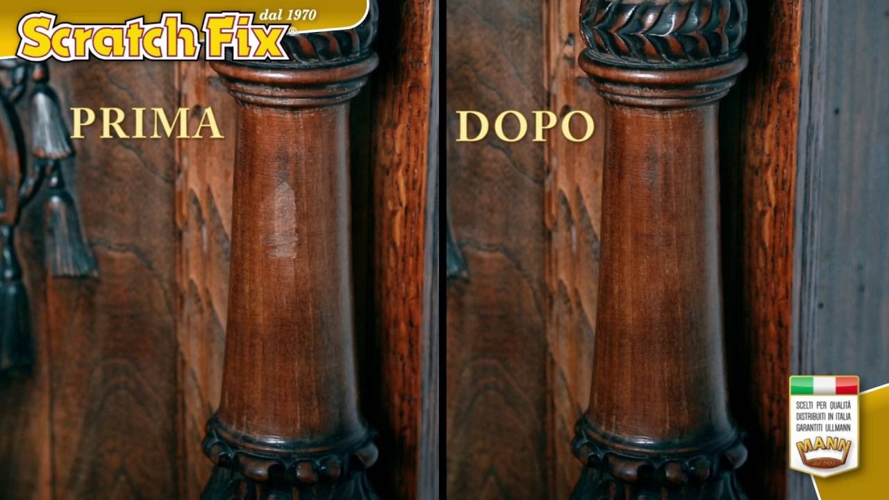 Scratchfix per legno rimuove graffi dai mobili youtube - Olio per mobili antichi ...