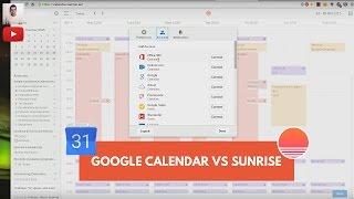 Google Calendar vs Sunrise