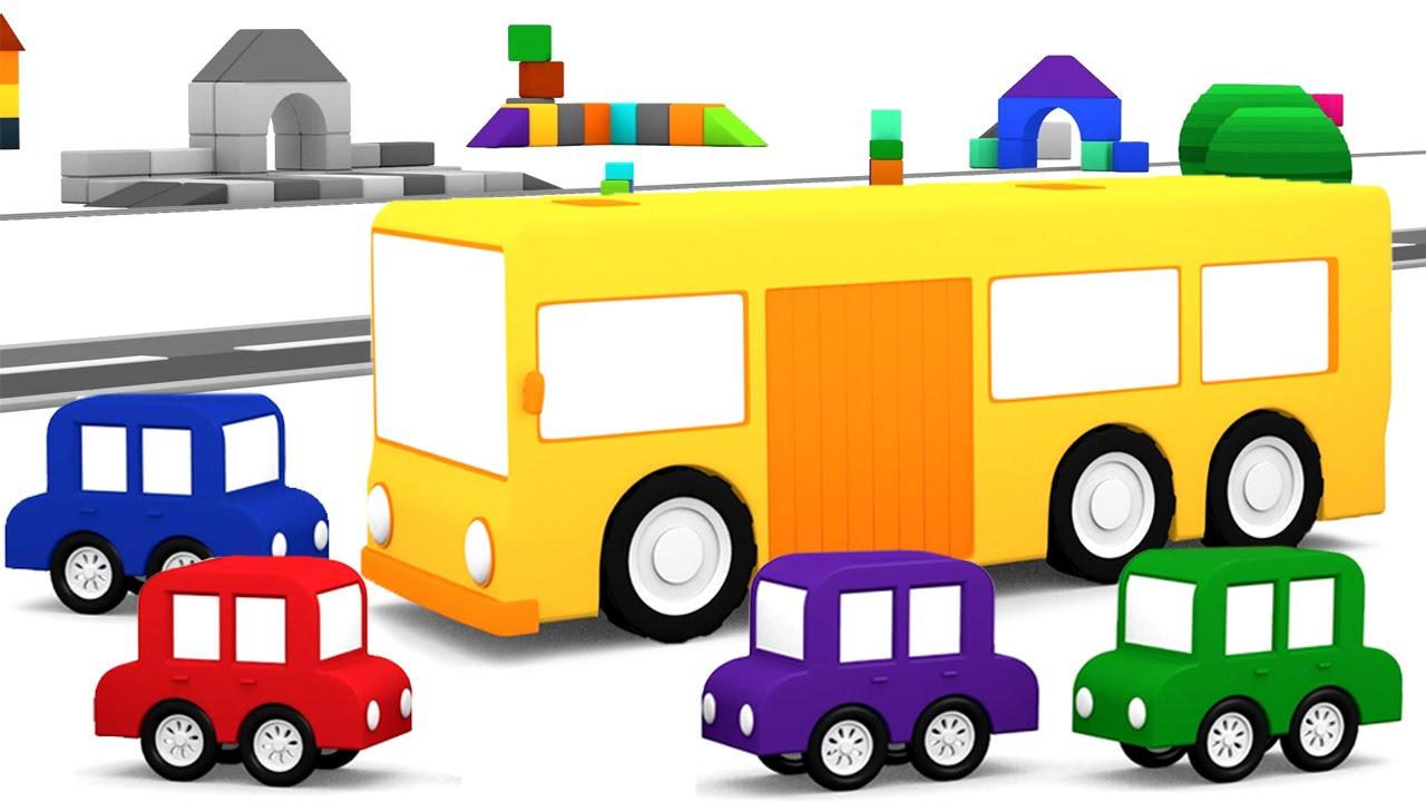 Cartoni animati per bambini macchinine colorate e l