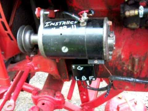 ih farmall super a 6 volt positive ground generator & regulator install