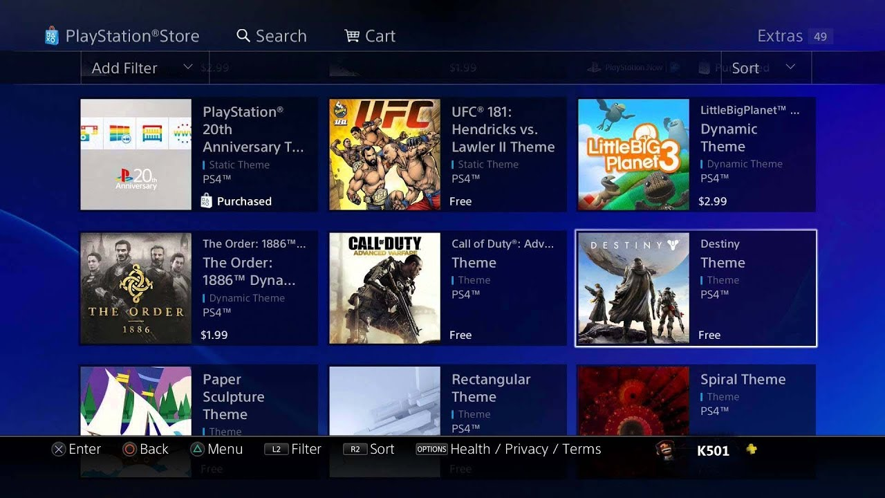 PSDLCIndex: PlayStation Store PS4 DLC Indexer by GarnetSunset