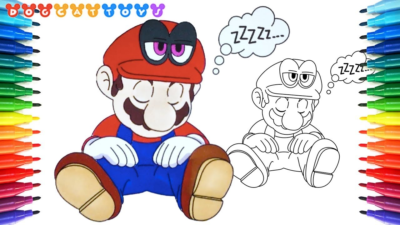 Mario Odyssey Coloring Pages Picture - Whitesbelfast | 720x1280