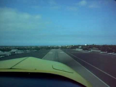 Grumman AA1 Taking Off from Santa Monica Airport Rwy21