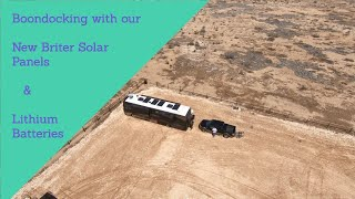 Boondocking With Briter Solar and Lithium