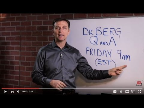 Dr. Berg's Live Q & A Every Friday at 9:00 am (EST)