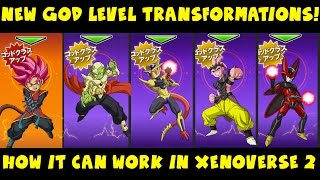 dragon ball heroes new god transformations for every race how it can work in xenoverse 2
