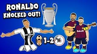 RONALDO AUS!!!  (Juve vs Ajax & Barca vs Man Utd Parodie Goals Highlights Champions League 2019)