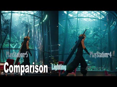 Final Fantasy VII Remake - PS5 vs PS4 Gameplay Comparison [HD 1080P]