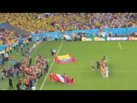 World Cup 2014 - Ecuador vs France (National Anthems)