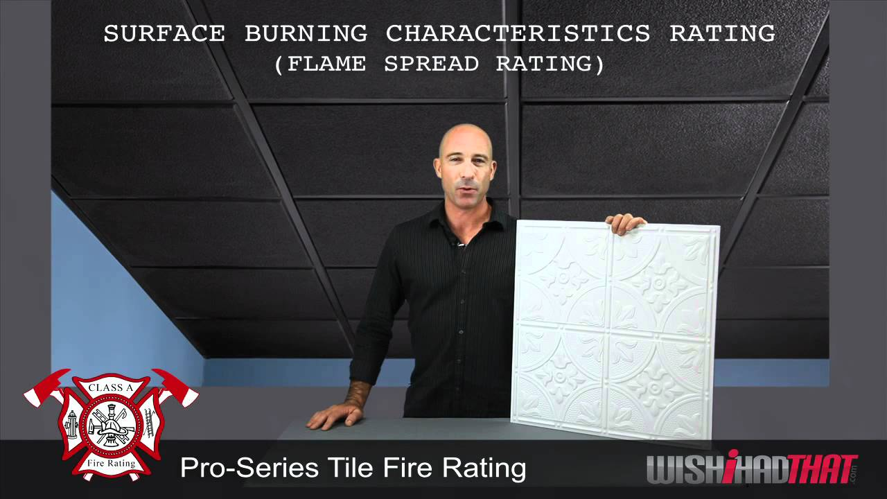 Pro Series Ceiling Tiles Fire Rating Youtube