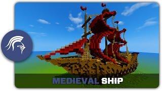 minecraft build medieval tutorial building ship