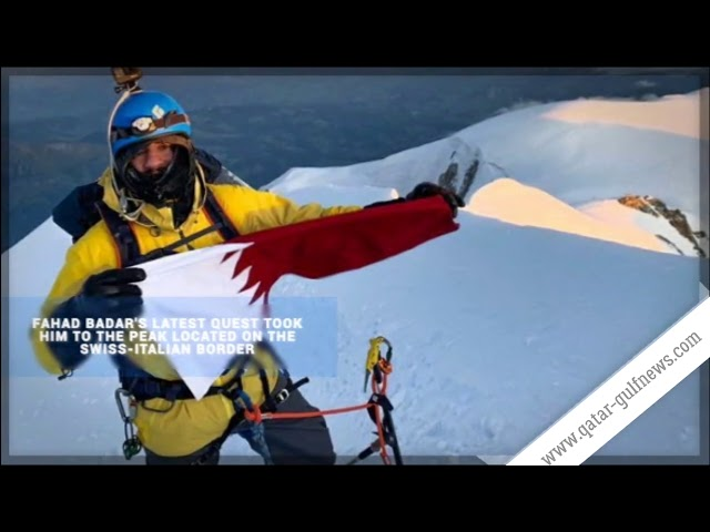Fahad Badar, a Qatari climber reaches peak of Switzerland's Matterhorn mountain