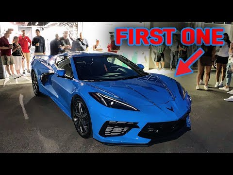 FIRST 2020 CORVETTE C8 ON THE ROAD!