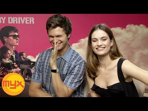 MYXclusive  With ANSEL ELGORT, LILY JAMES And EDGAR WRIGHT For