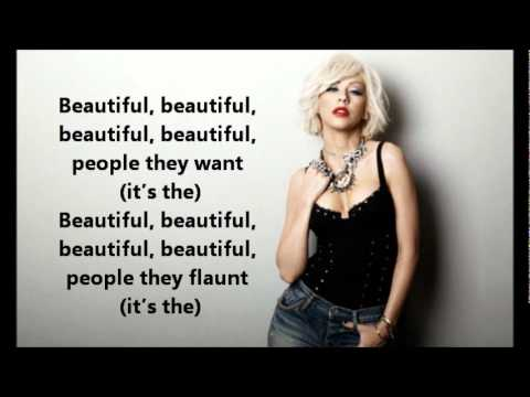 Christina Aguilera - The Beautiful People ( Lyrics On Screen )