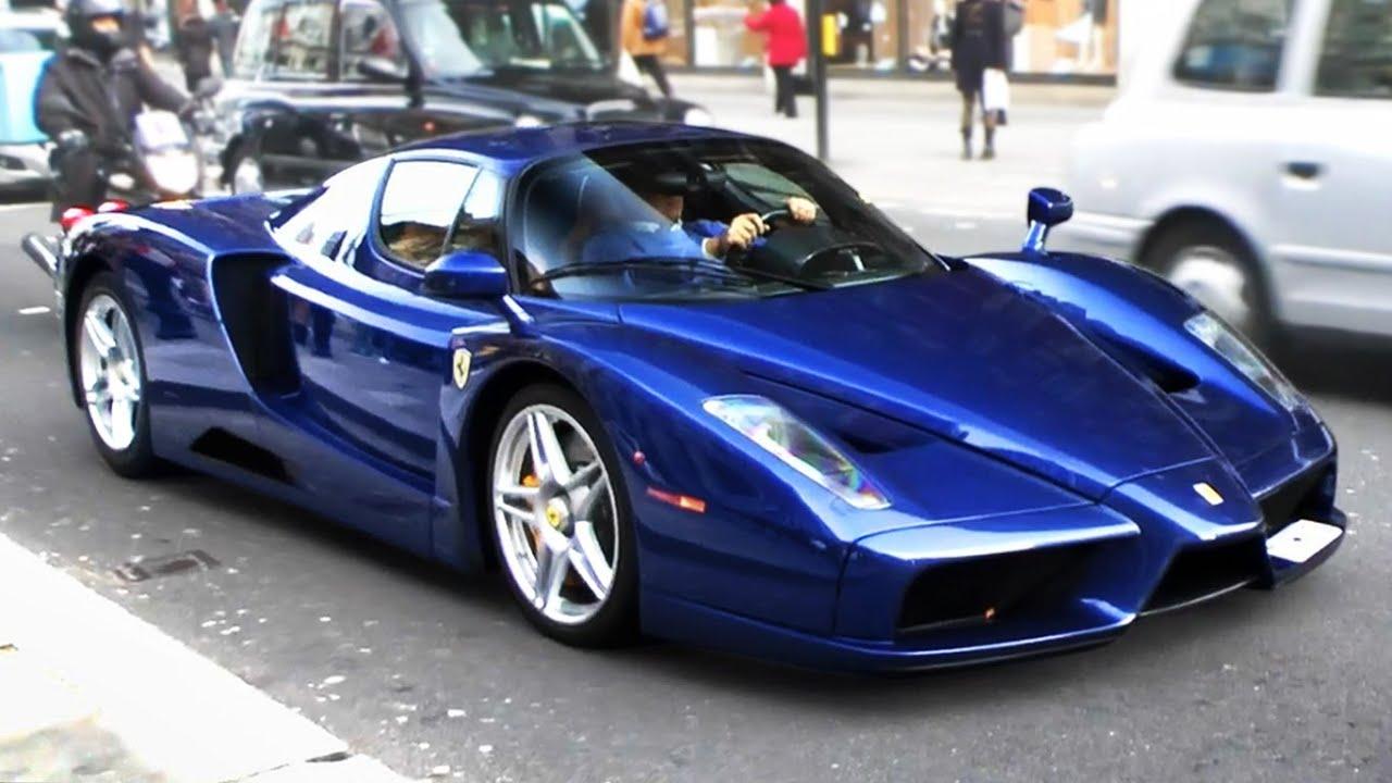 Tdf Blue Ferrari Enzo Driving Through London Youtube