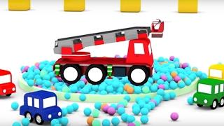 4 МАШИНКИ и пожарная машина. Мультики для детей про #машинки. Развивающие мультфильмы для мальчиков