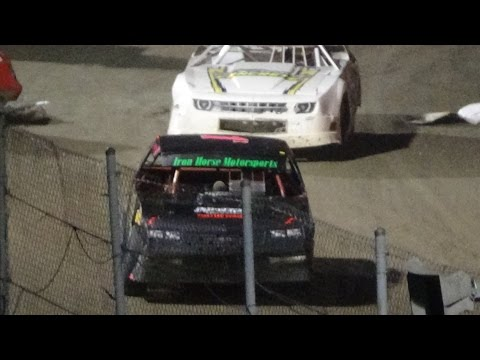 Street Stock Feature Race at I-96 Speedway, Michigan on 08-25-16.