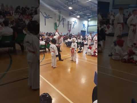 Tai-kwando compititon orange belt
