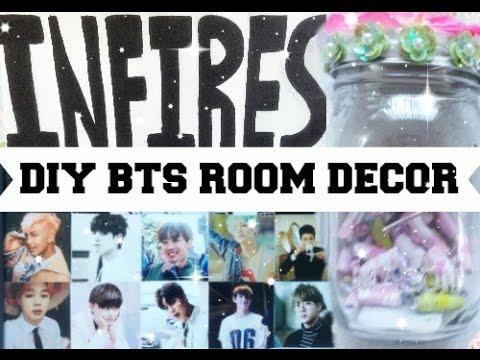 DIY BTS ROOM DECOR | PRETTYPRINCEJIN - YouTube on Room Decor Bts id=64997