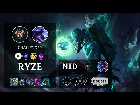 Ryze Mid vs Ahri - KR Challenger Patch 10.18
