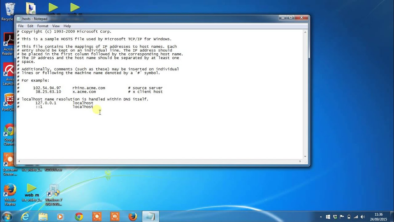 how to find host file in windows 7