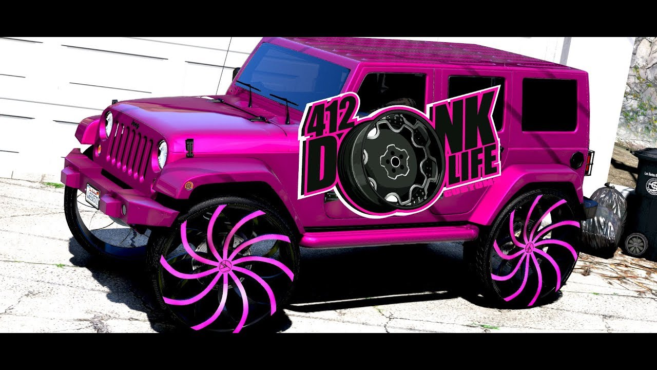 Pink jeep wrangler
