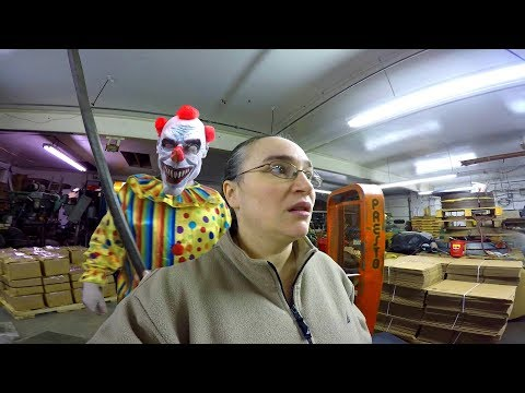 Scary Clown Breaks into Buisness and Follows Me - Mom Fights Back!