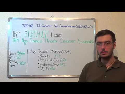C2020-002 – IBM Exam Algo Financial Modeler Test Developer Questions