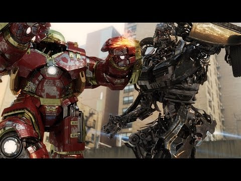Avengers Age Of Ultron Hulkbuster Vs Transformers Decepticon FIGHT SCENE In Real Life | By Soluchi