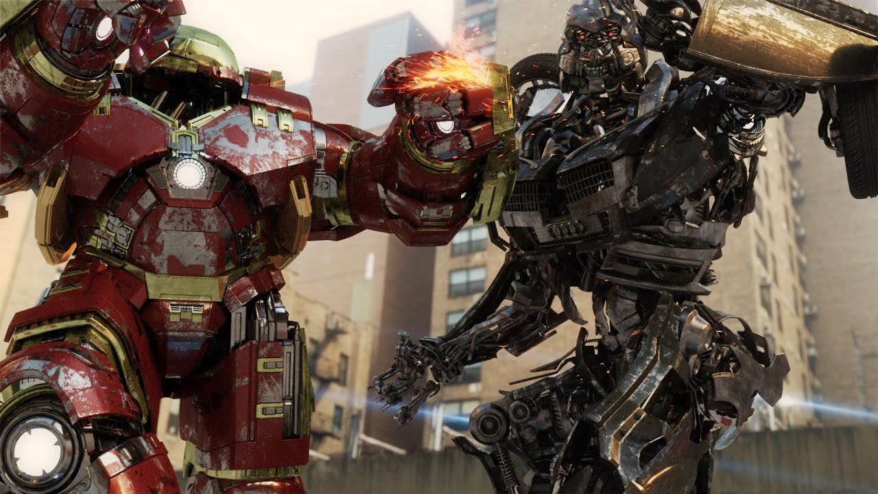 Avengers Age Of Ultron Hulkbuster Vs Transformers