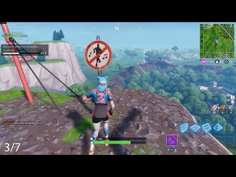 Fortnite - All Dance In Different Forbidden Locations - Season 7 Week 1 Challenges