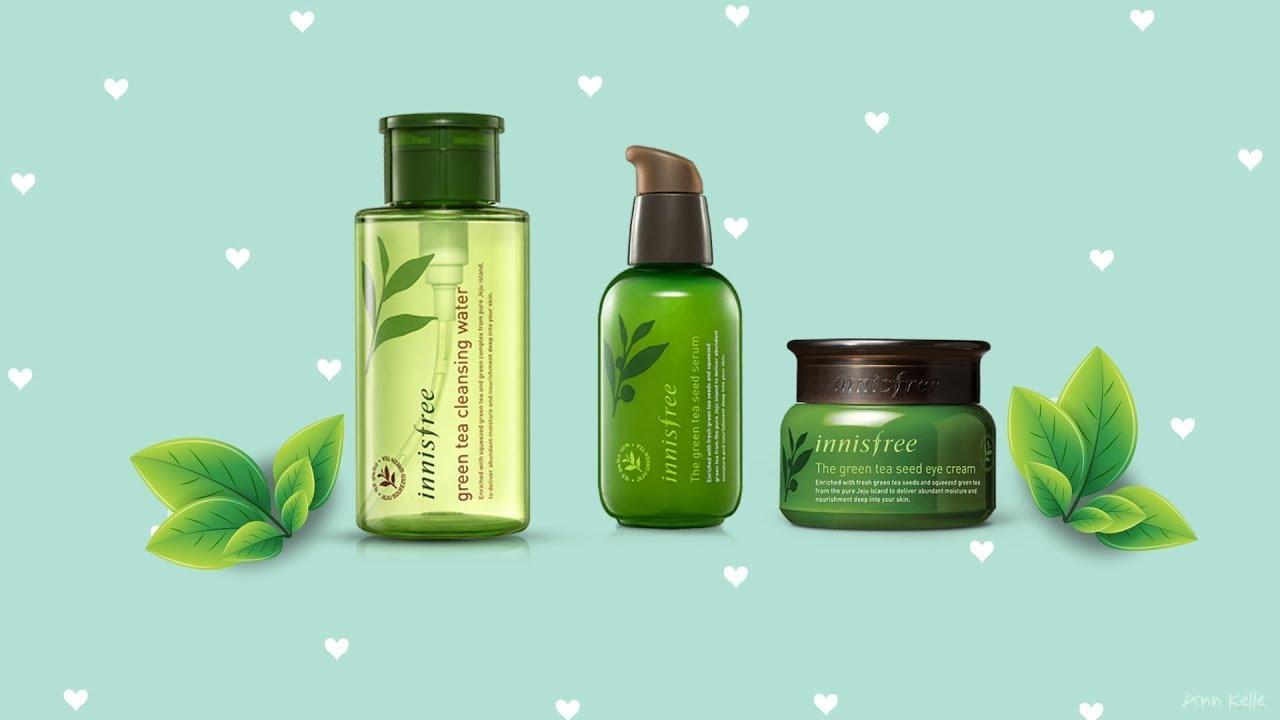 REVIEW DÒNG SẢN PHẨM TRÀ XANH CỦA INNISFREE // Review Innisfree Green Tea Products