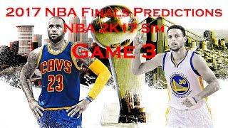 2017 NBA Finals Predictions Game 3 - NBA 2K17 Simulation