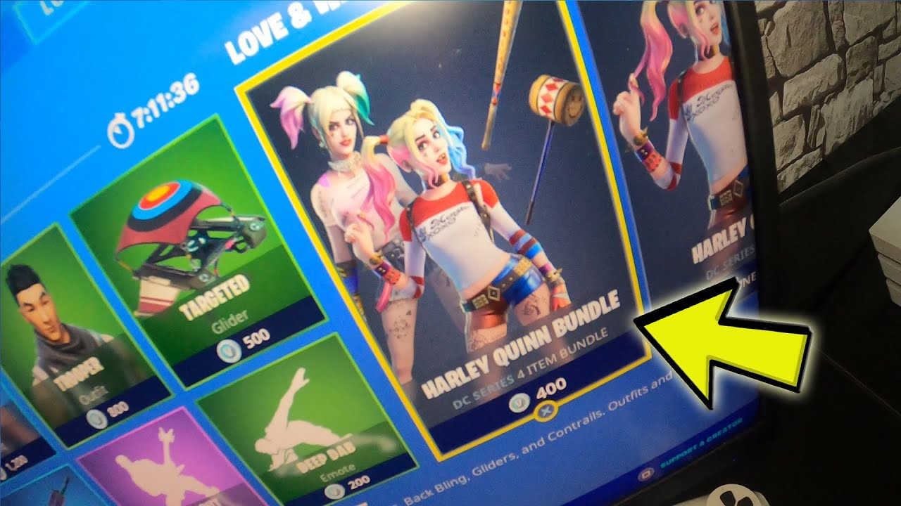 What Happens When You Try To Buy Harley Quinn Bundle For 400 Vbucks Glitch Fortnite Shop Glitch Youtube