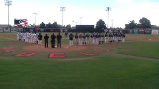 American Legion baseball pledge and our National Anthem