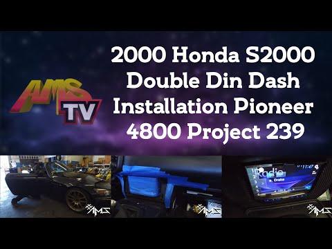 2000 Honda S2000 Double Din Dash Installation Pioneer 4800 Project 239